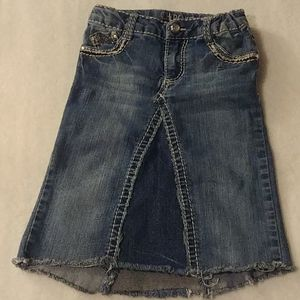 Girls Recyled Jean Skirt size 7